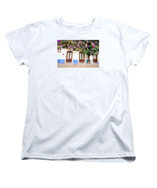 Women's T-Shirt (Standard Cut) featuring the photograph The House With The Bougainvillea by Marwan Khoury