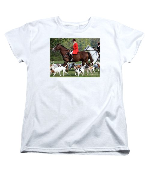 Women's T-Shirt (Standard Cut) featuring the photograph The Hunt Is On by Polly Peacock