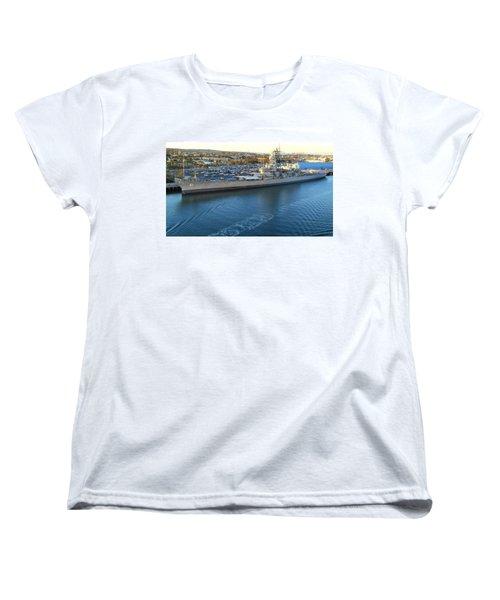 Women's T-Shirt (Standard Cut) featuring the photograph The Iowa At Sunset by Joe Kozlowski