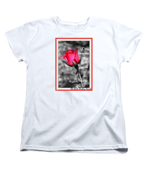 Women's T-Shirt (Standard Cut) featuring the digital art The Journey Begins by Holley Jacobs