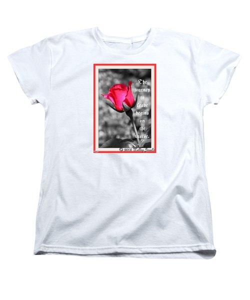 The Journey Begins Women's T-Shirt (Standard Cut)