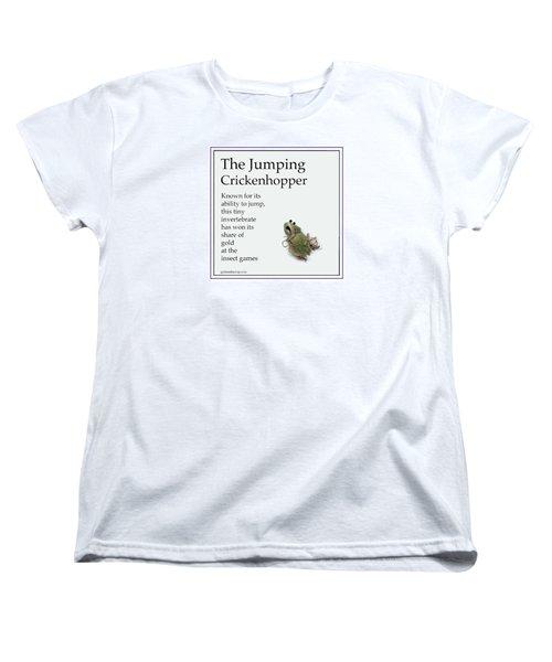 Women's T-Shirt (Standard Cut) featuring the digital art The Jumping Crickenhopper by Graham Harrop