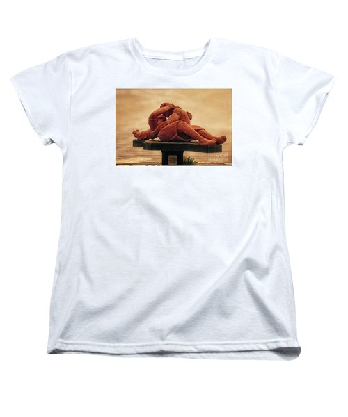 Women's T-Shirt (Standard Cut) featuring the photograph The Kiss - Peru by Mary Machare