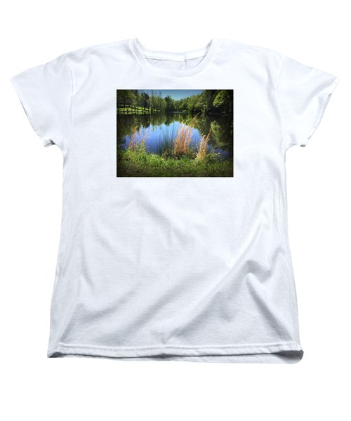 The Lake At Musgrove Mill Women's T-Shirt (Standard Cut) by Kelly Hazel