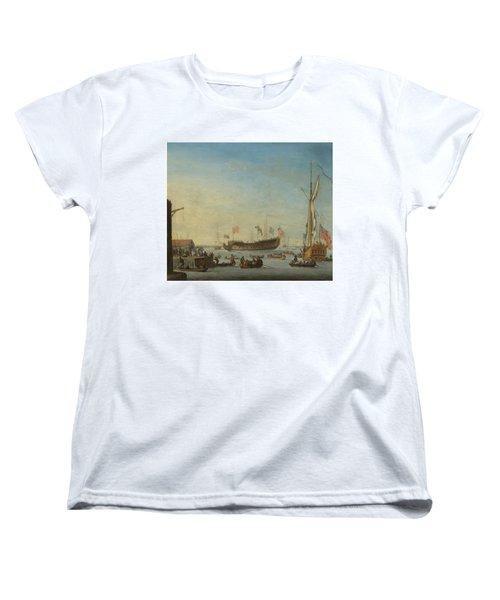 The Launch Of A Man Of War Women's T-Shirt (Standard Cut)