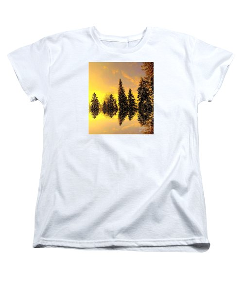 Women's T-Shirt (Standard Cut) featuring the photograph The Light by Elfriede Fulda
