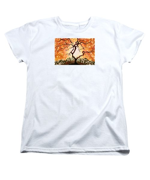 Women's T-Shirt (Standard Cut) featuring the painting The Living Tree by Patricia Arroyo