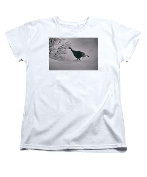 The Lone Turkey Women's T-Shirt (Standard Cut) by Jason Coward