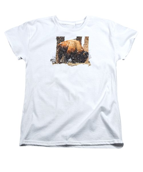 The Majestic Bison Women's T-Shirt (Standard Cut) by Image Takers Photography LLC - Carol Haddon