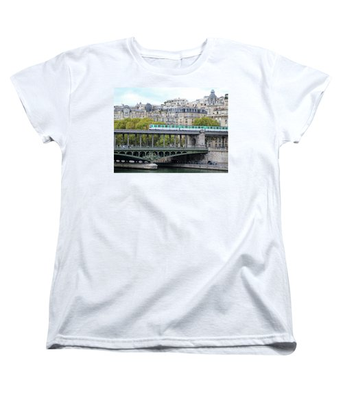 Women's T-Shirt (Standard Cut) featuring the photograph The Metro On The Bridge by Yoel Koskas