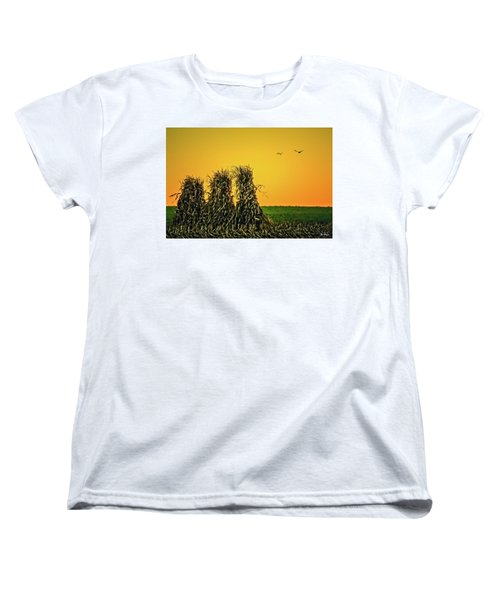 The Migration Of Summer Women's T-Shirt (Standard Cut) by Skip Tribby