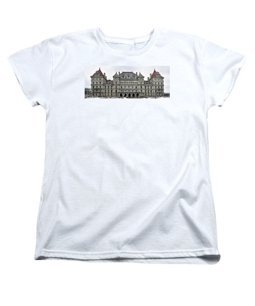 The New York State Capitol In Albany New York Women's T-Shirt (Standard Cut) by Brendan Reals