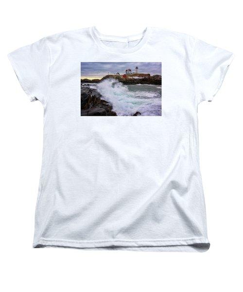 Women's T-Shirt (Standard Cut) featuring the photograph The Nubble After A Storm by Rick Berk
