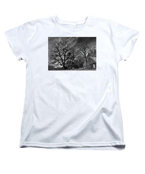 The Old Oak Tree Women's T-Shirt (Standard Cut) by Steve Warnstaff