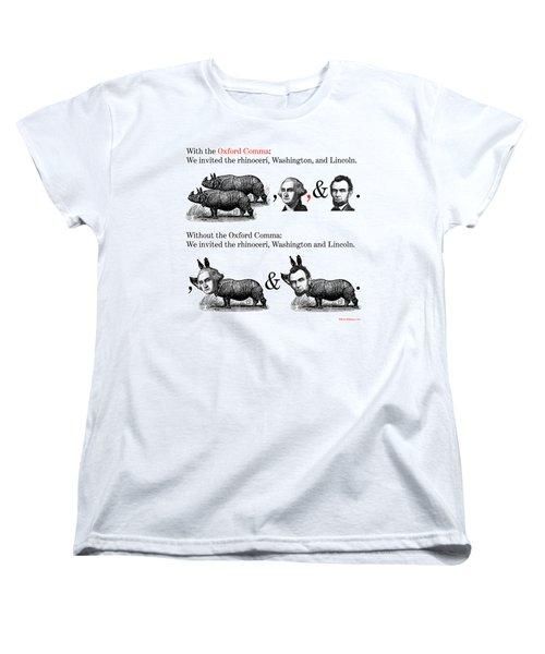 The Oxford Comma Women's T-Shirt (Standard Cut)