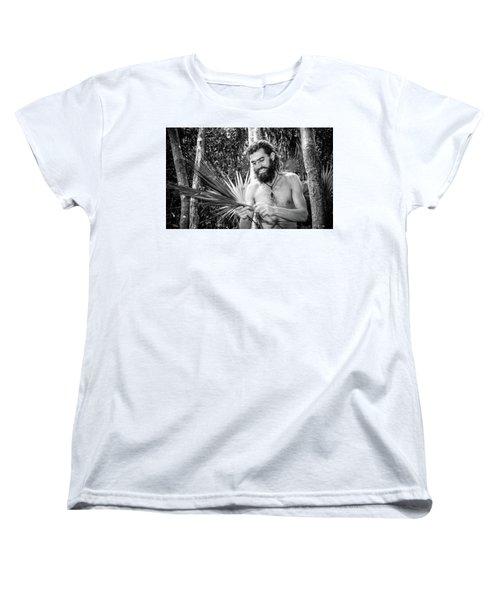 The Palm Frond Weaver Women's T-Shirt (Standard Cut) by Marius Sipa