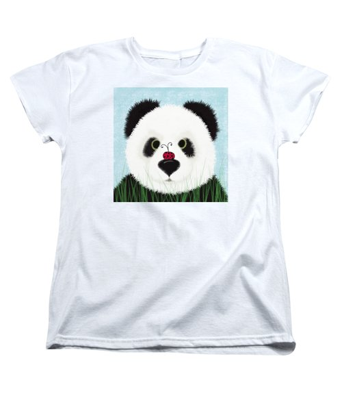 The Panda And His Visitor  Women's T-Shirt (Standard Cut) by Michelle Brenmark