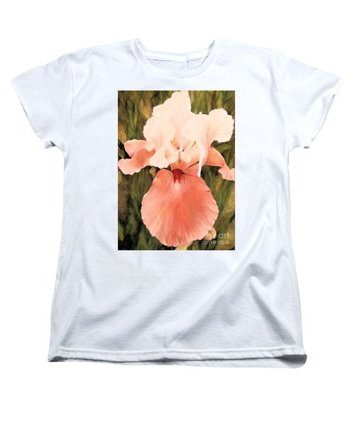 Women's T-Shirt (Standard Cut) featuring the painting The Pink Lady  by Laurie Rohner