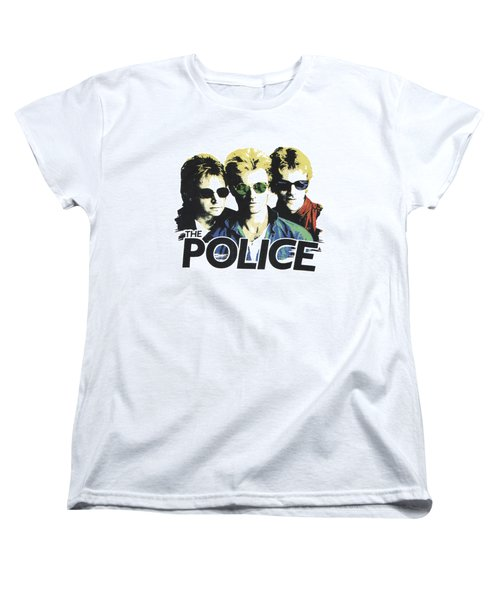 The Police Women's T-Shirt (Standard Cut) by Gina Dsgn