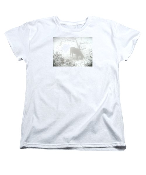 Women's T-Shirt (Standard Cut) featuring the photograph The Primal Mist by Annemeet Hasidi- van der Leij
