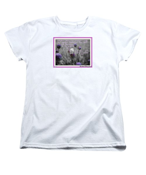 Women's T-Shirt (Standard Cut) featuring the digital art The Problem Is Them by Holley Jacobs