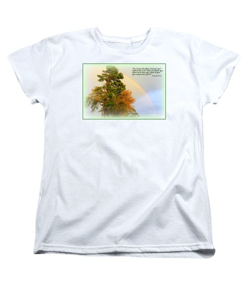 The Promises Of God Women's T-Shirt (Standard Cut) by Kathy  White
