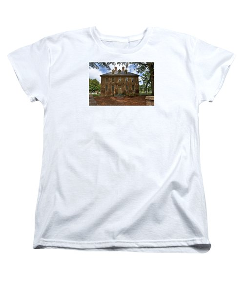 Women's T-Shirt (Standard Cut) featuring the photograph The Restored Brafferton by Jerry Gammon