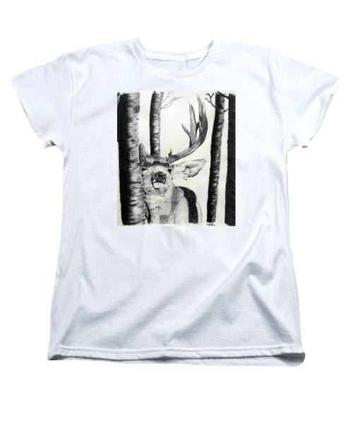 Women's T-Shirt (Standard Cut) featuring the drawing The Rutt by Mayhem Mediums