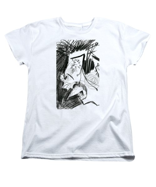 The Scream - Picasso Study Women's T-Shirt (Standard Cut) by Michelle Calkins
