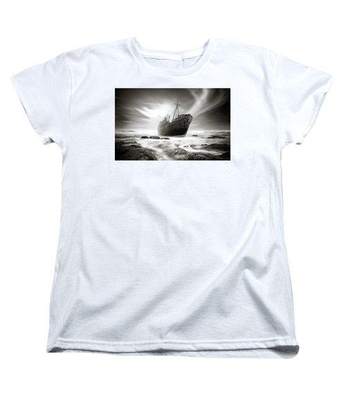 The Shipwreck Women's T-Shirt (Standard Cut) by Marius Sipa