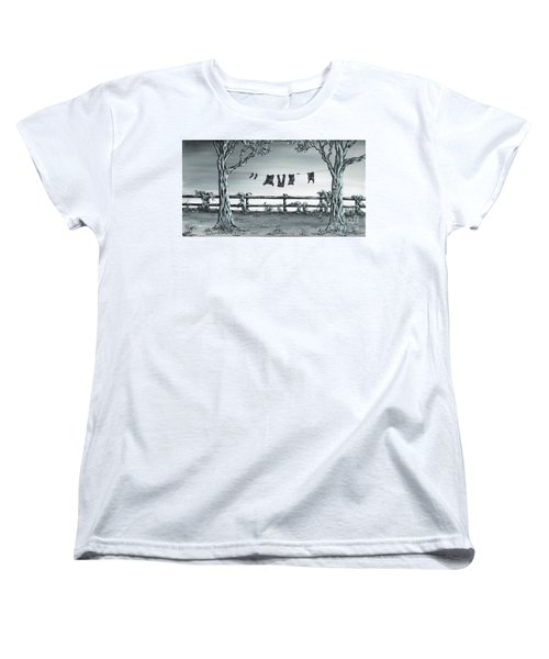 The Show Off Women's T-Shirt (Standard Cut) by Kenneth Clarke