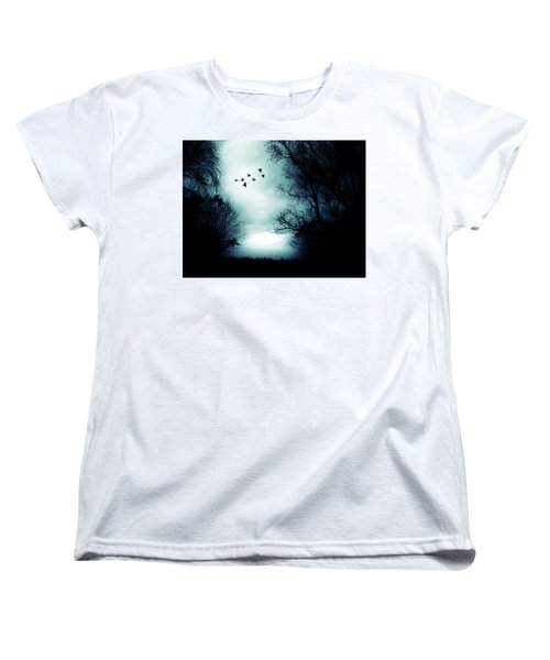 The Skies Hold Many Secrets Known Only To A Few Women's T-Shirt (Standard Cut) by Michele Carter