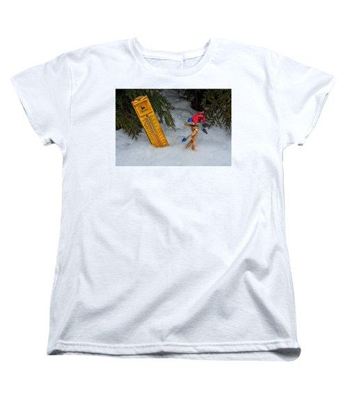 The Snowstorm Women's T-Shirt (Standard Cut) by Mark Fuller