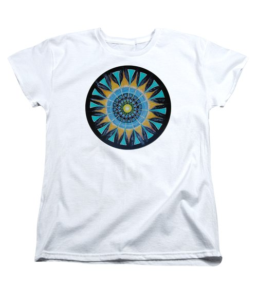 Women's T-Shirt (Standard Cut) featuring the painting The Soul Mandala by Patricia Arroyo
