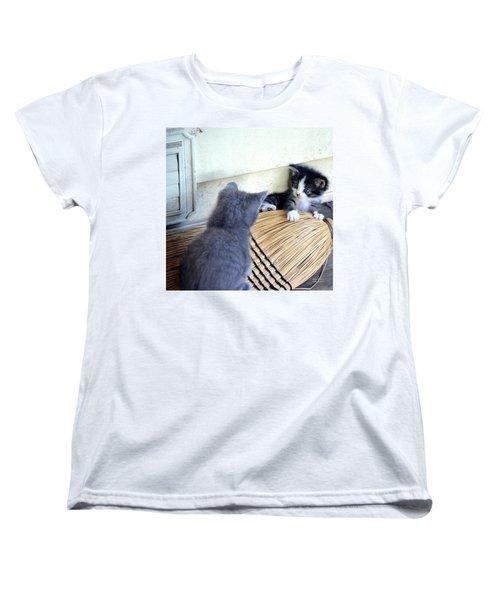 The Stare Down Women's T-Shirt (Standard Cut) by Maria Urso