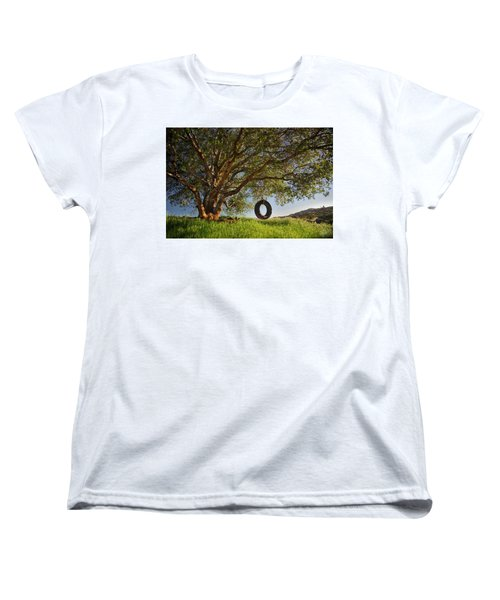 The Tire Swing Women's T-Shirt (Standard Cut) by Endre Balogh