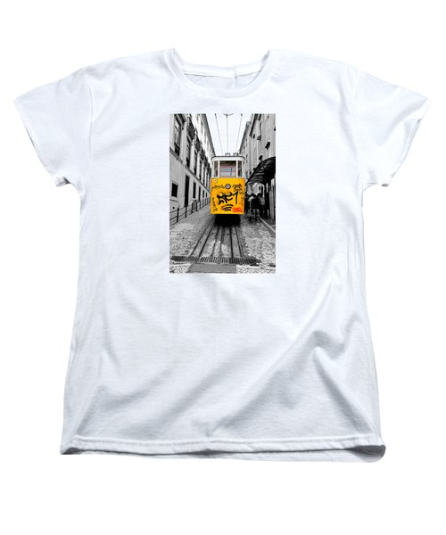 Women's T-Shirt (Standard Cut) featuring the photograph The Tram by Marwan Khoury