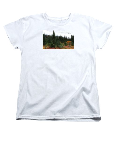 Women's T-Shirt (Standard Cut) featuring the photograph The Trees by Lynn Hopwood