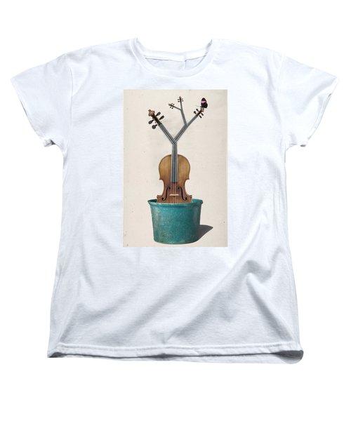 The Voilin Plant Women's T-Shirt (Standard Cut) by Keshava Shukla