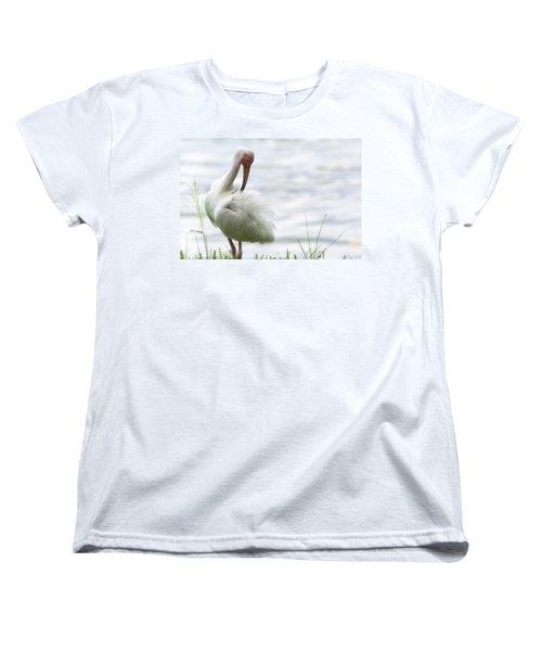 The White Ibis  Women's T-Shirt (Standard Cut) by Saija  Lehtonen