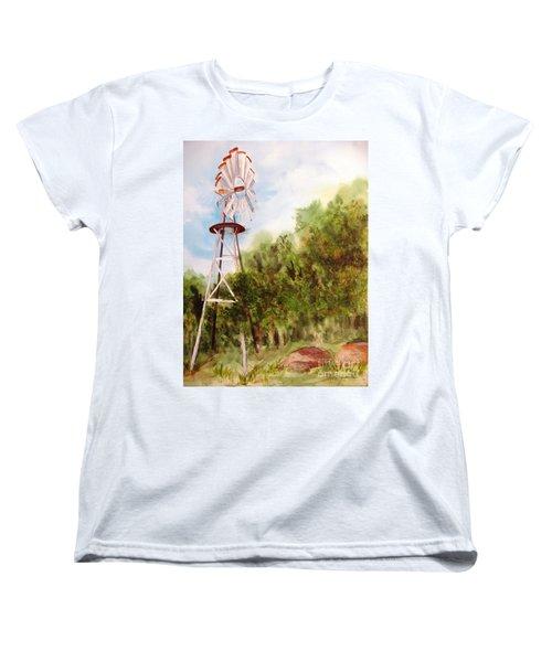 The Windmill  Women's T-Shirt (Standard Cut) by Vicki  Housel