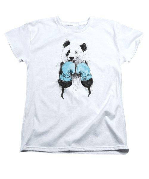The Winner Women's T-Shirt (Standard Cut) by Balazs Solti