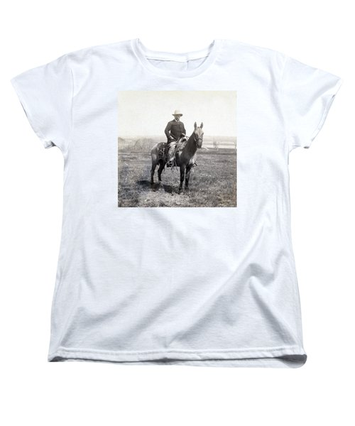 Theodore Roosevelt Horseback - C 1903 Women's T-Shirt (Standard Cut) by International  Images