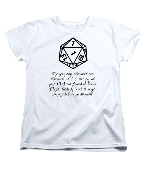 There Goes That Sword Women's T-Shirt (Standard Cut) by Jon Munson II
