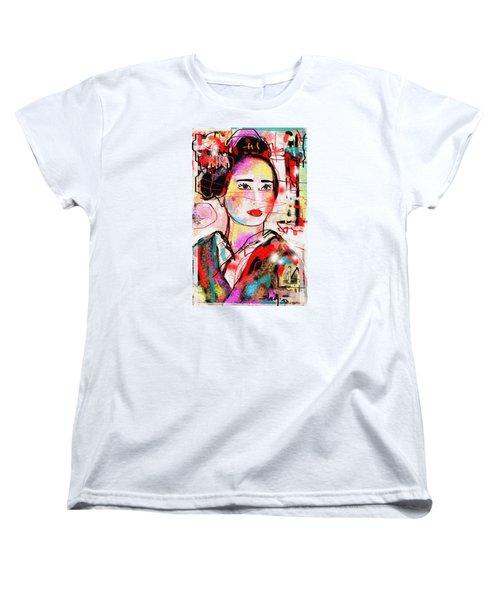 Women's T-Shirt (Standard Cut) featuring the digital art Third Generation  by Sladjana Lazarevic