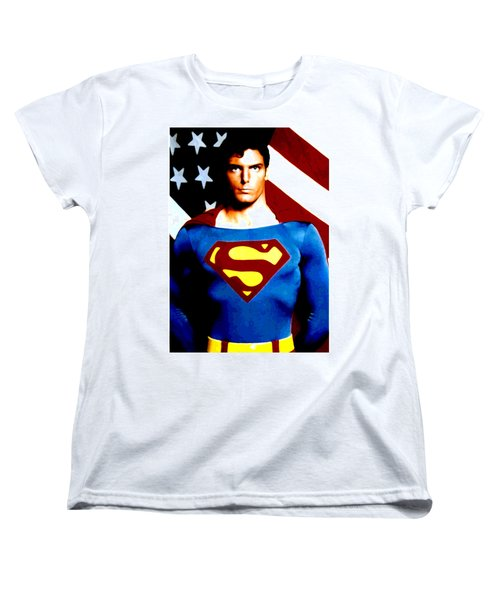 Women's T-Shirt (Standard Cut) featuring the digital art This Is Superman by Saad Hasnain