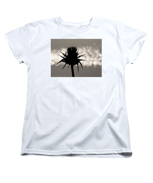 Thistle Silhouette - 365-11 Women's T-Shirt (Standard Cut) by Inge Riis McDonald