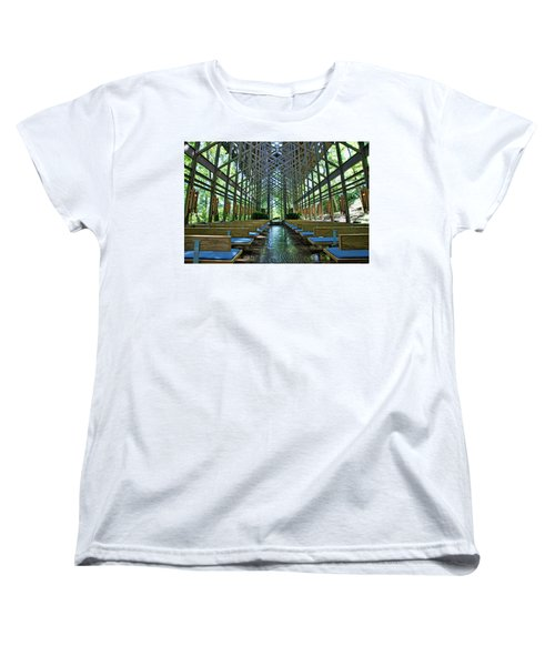 Women's T-Shirt (Standard Cut) featuring the photograph Thorncrown Chapel Interior by Cricket Hackmann