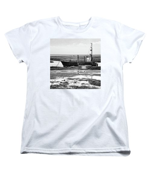 Thornham Harbour, North Norfolk Women's T-Shirt (Standard Cut) by John Edwards