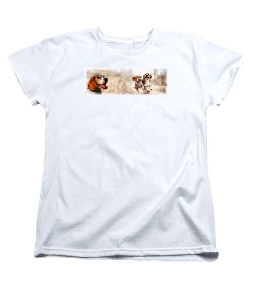Three Amigos Women's T-Shirt (Standard Cut) by Maciek Froncisz